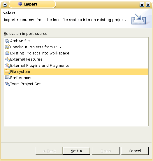 Eclipse IDE: Importing Files into a Project